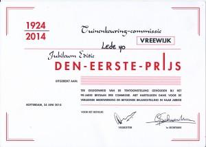Eerste prijs